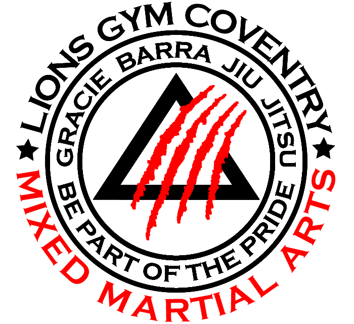 Lions Gym Mixed Martial Arts Logo in Black and Red